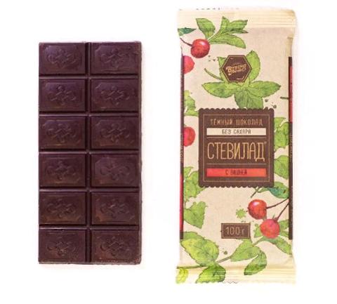 Темный шоколад Стевилад с вишней, 100 г