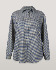 Блузка White 1066 рубашка клеточка