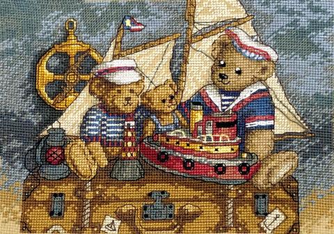 Набор для вышивания Мишки, на палубу! Арт. 1020