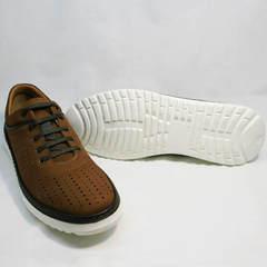 Мужские туфли спортивного типа Vitto Men Shoes 1830 Brown White