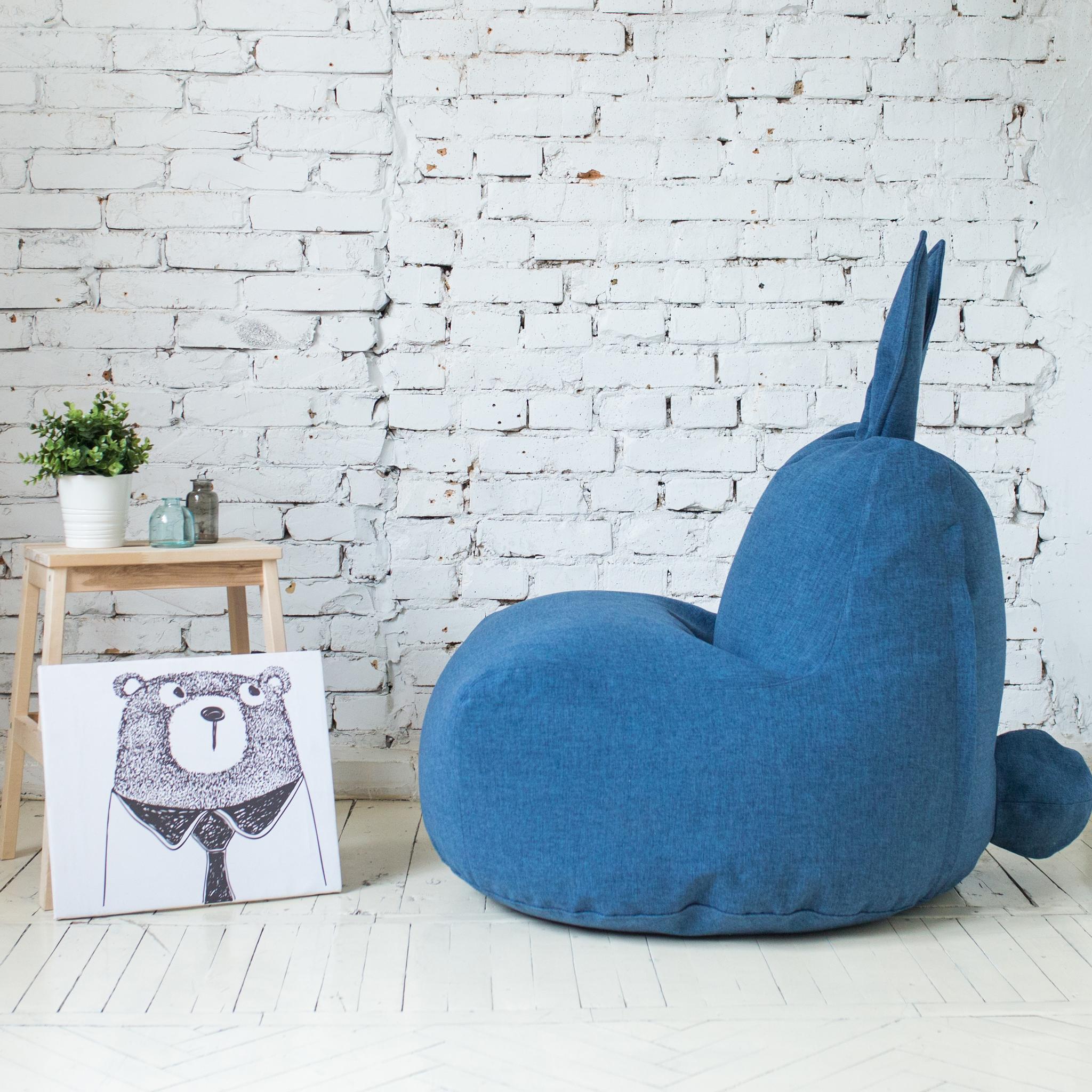 Кролик M тканевый (синий)
