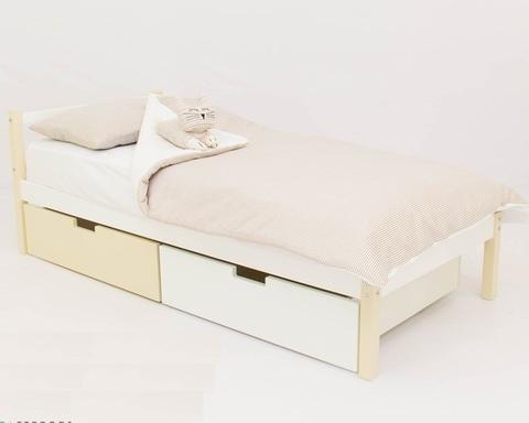 Кровать SKOGEN бежево-белый
