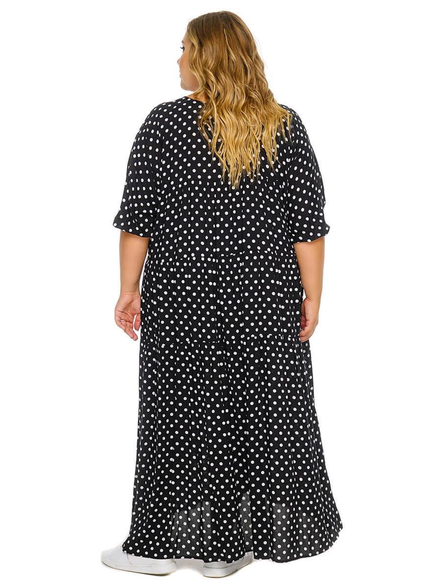 Платье с ярусами Горох