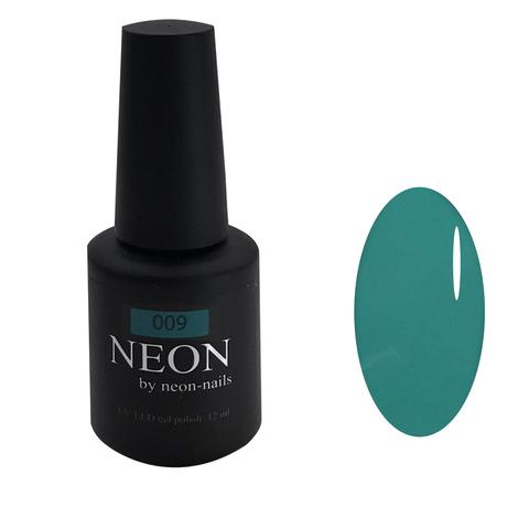NEON, гель-лак Turquoise № 009 , (12 ml) неоновый бирюзовый
