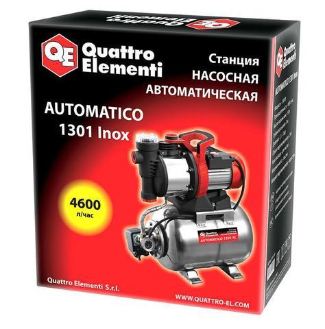 Насосная станция QUATTRO ELEMENTI Automatico 1301 FL Inox (1300 Вт, 4600 л/ч, для чистой,  (910-249)