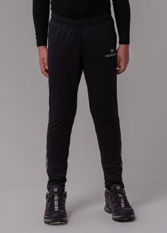 Разминочные брюки Nordski Jr.Pro black подростковые
