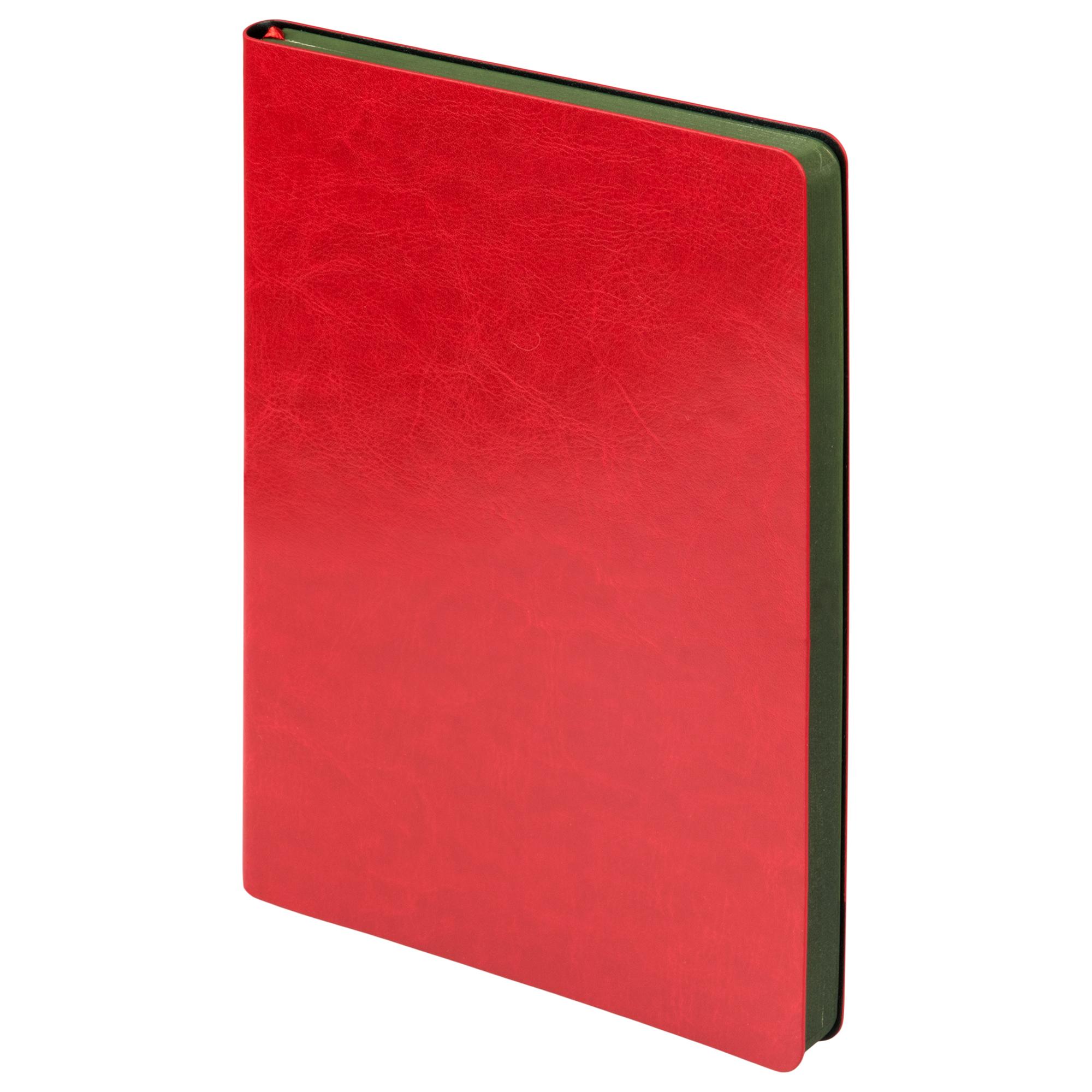 Ежедневник недатированный, Portobello Trend, River side, 145х210, 256 стр, красный/зеленый