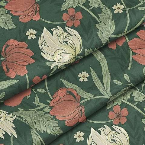 Ткань хлопок Альвина зеленый