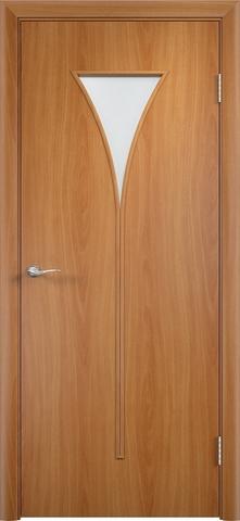 Дверь Сибирь Профиль Рюмка (С-4), цвет миланский орех, остекленная