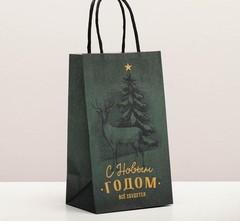 Пакет подарочный крафтовый «Всё сбудется», 12 × 21 × 9 см, 1 шт.