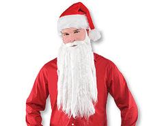 Борода Санта Клауса 40 см, 1 шт.