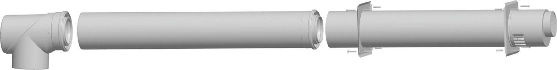 Дымоход коаксиальный для котла WOLF CGB-75/100