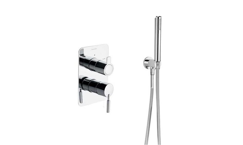 Встраиваемый смеситель для душа с душевым комплектом ATICA SK7515021 на 2 выхода