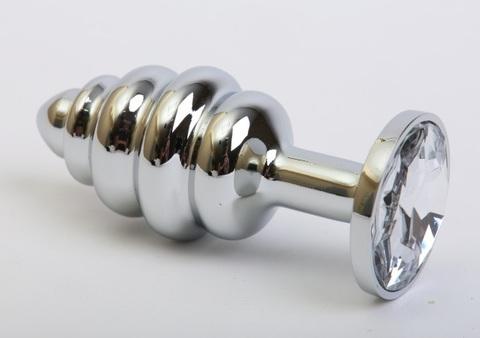 Пробка металл 7,3х2,9см фигурная прозрачный страз 47144-1MM