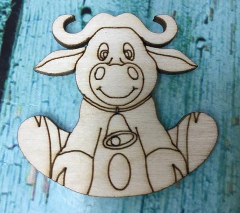 056-9920 Заготовка деревянная для значка/броши