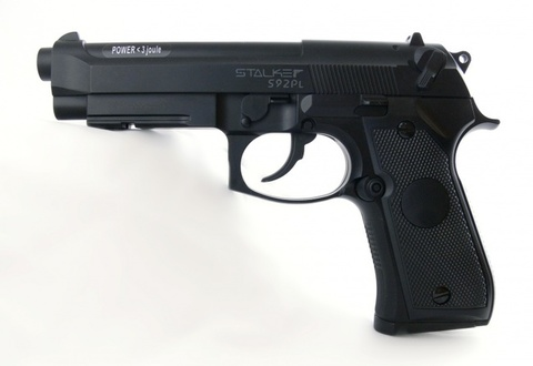 Пистолет пневматический Stalker S92PL (Beretta 92,пластик), 120 м/с