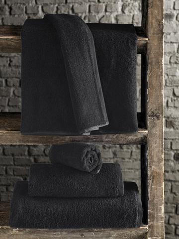Полотенце махровое чёрное 50х100см 420 гр/м.кв.