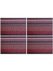 Комплект из 4-х прямоугольных кухонных термосалфеток Dutamel плейсмат салфетка сервировочная - фиолетовые полосы DTM-023 45*30 см