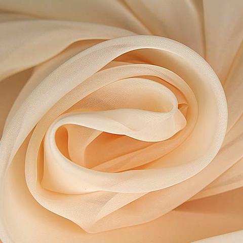 Ткань вуаль однотонная для штор - персиковая. Ш - 300 см. Арт. -SH 7