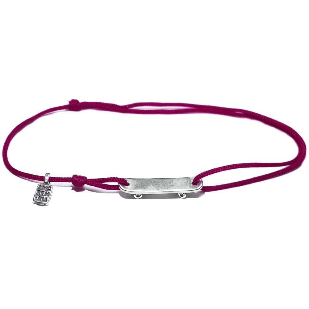 Skateboard Bracelet, sterling silve