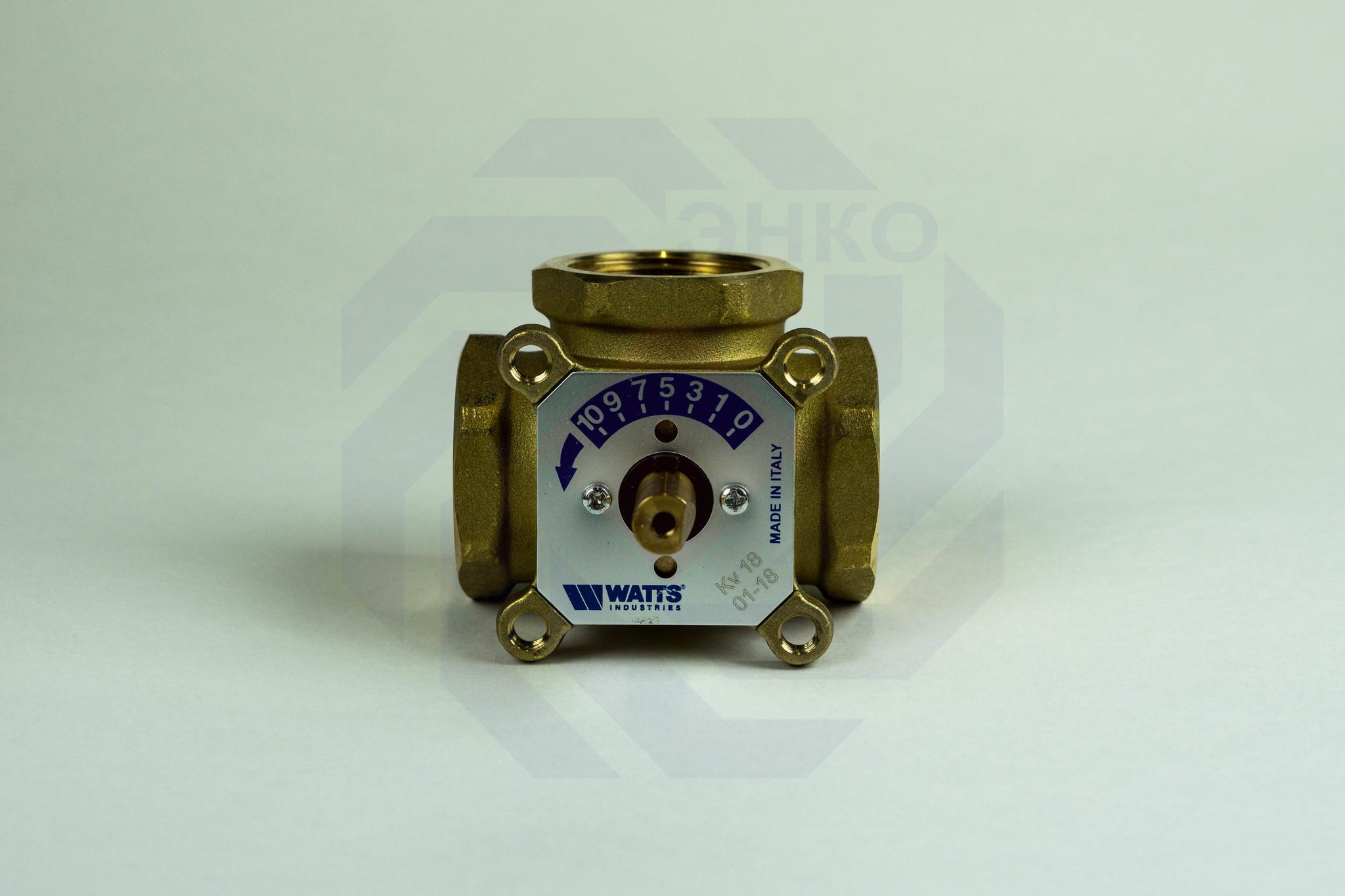 Клапан поворотный трехходовой с электроприводом WATTS V3GB 1¼