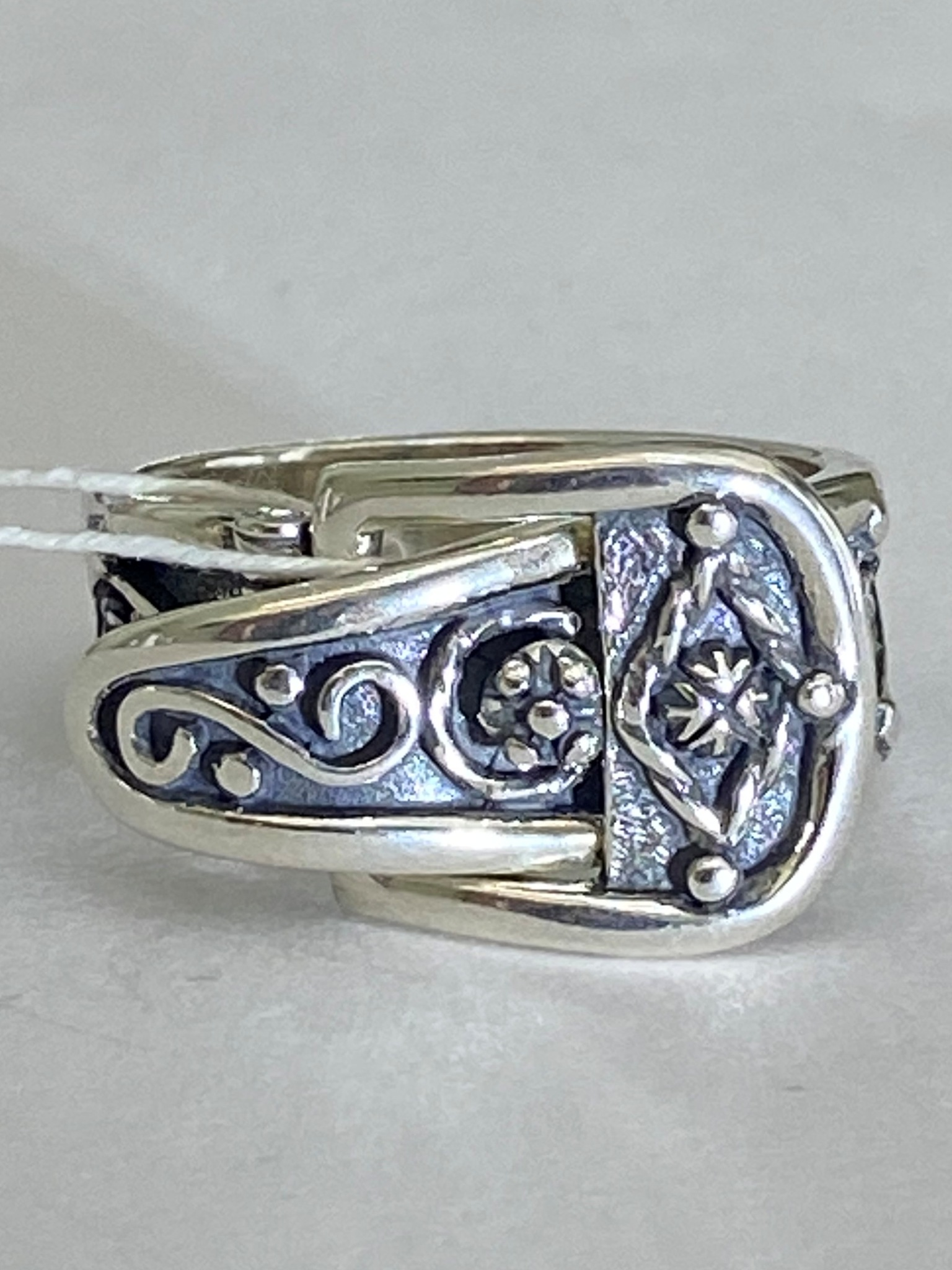 Ремень (кольцо из серебра)