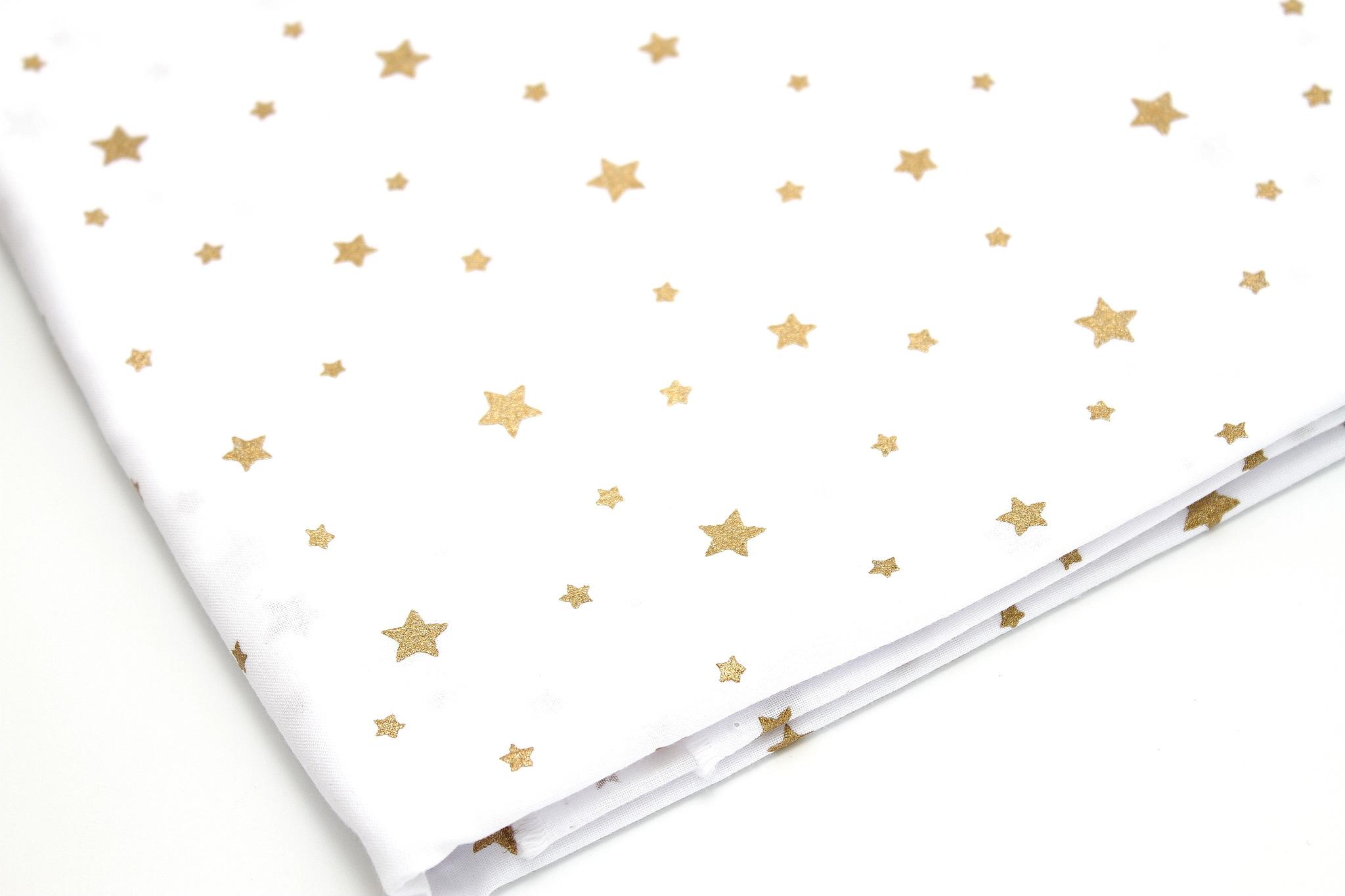 Звезды золото на белом