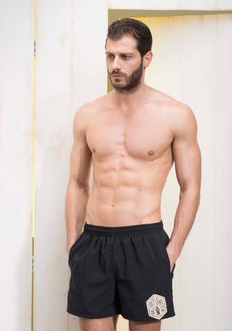 Мужские шорты для купания на резинке черные