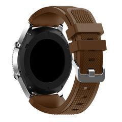 Силиконовый ремешок для Samsung Gear S3/Galaxy Watch 46 Fohuas Silicon Band 22мм (коричневый)
