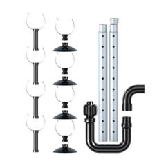 Набор трубок и креплений, Tetra, для выхода воды внешних фильтров Tetra EX 400/600/600, Plus/700/800 Plus