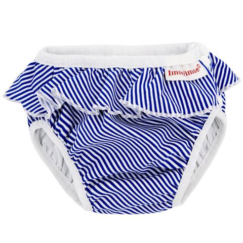Плавки Imsevimse, White/Blue Stripes Frill