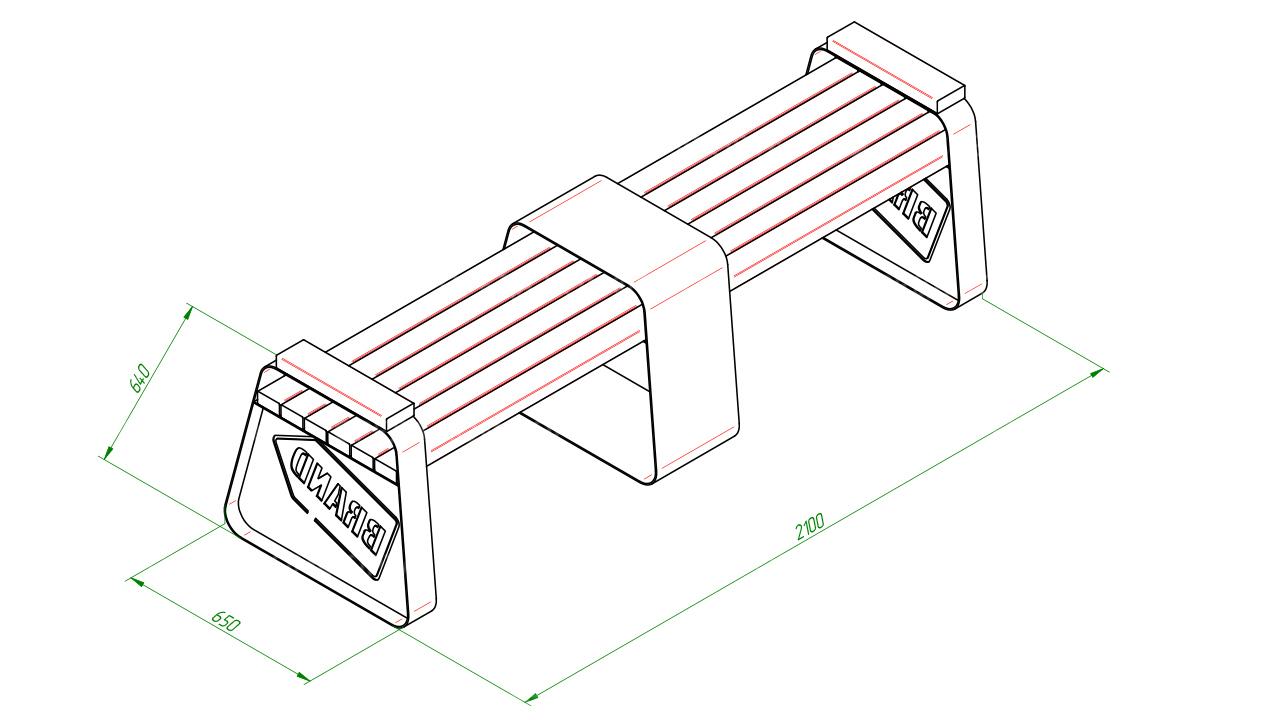 Скамейка со столом SCAM0236