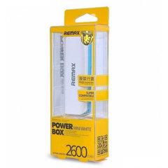 Внешний аккумулятор Remax power box mini white 2600 mah