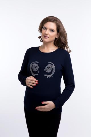 Свитшот для беременных 09144 темно-синий