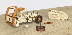 Грузовик-самосвал от M-WOOD - деревянный винтовой конструктор 3D пазл, сборная модель
