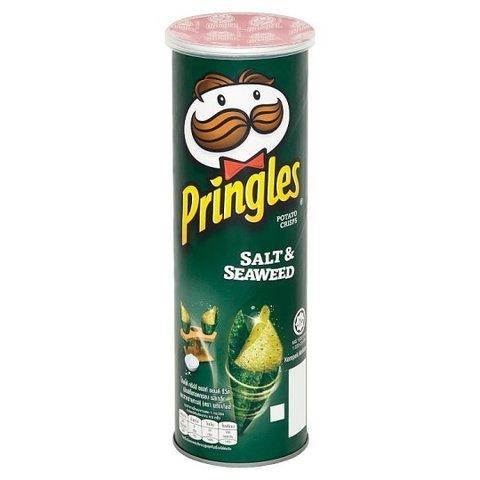 Чипсы Pringles salt and seaweed Принглс со вкусом соли и морской капусты 107 гр