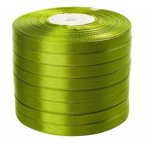 Лента атласная в уп. 8 шт. (размер: 10 мм х 50 ярд) Цвет: светло-зеленая