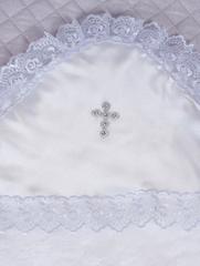 Крыжма для крещения махровая белая