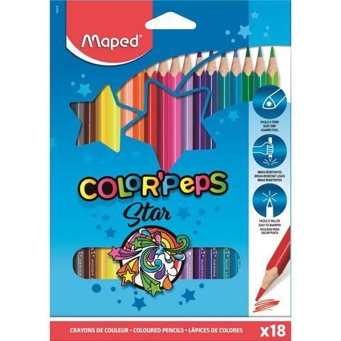 Карандаши цветные Maped Color'peps 18 цветов трехгранные