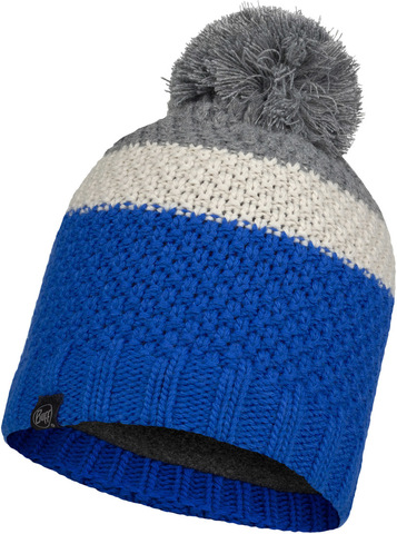 Шапка вязаная с флисом детская Buff Hat Knitted Polar Noel Olympian Blue фото 1