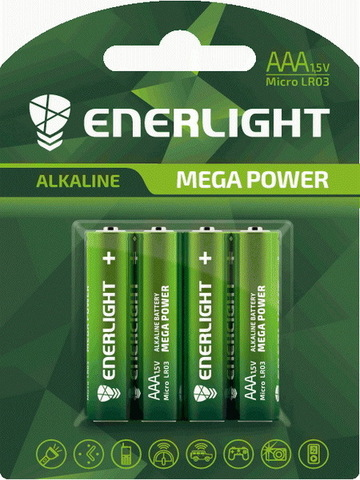 Батарейки Enerlight Mega Power LR03, AAA (4/60)
