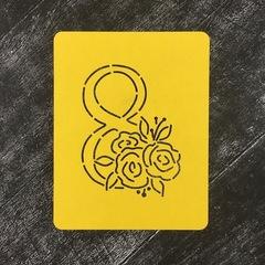 8-ка с цветами №1 Розы