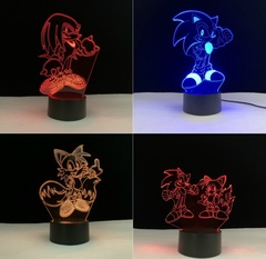 Соник 3D светильник с пультом в ассортименте