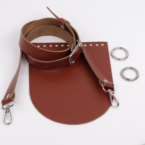 """Комплект для сумочки Орео """"Коньяк"""" N1 без замочка"""