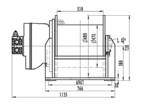 Лебедка свободного сброса IYJ5-100-57-28-L-ZPH2
