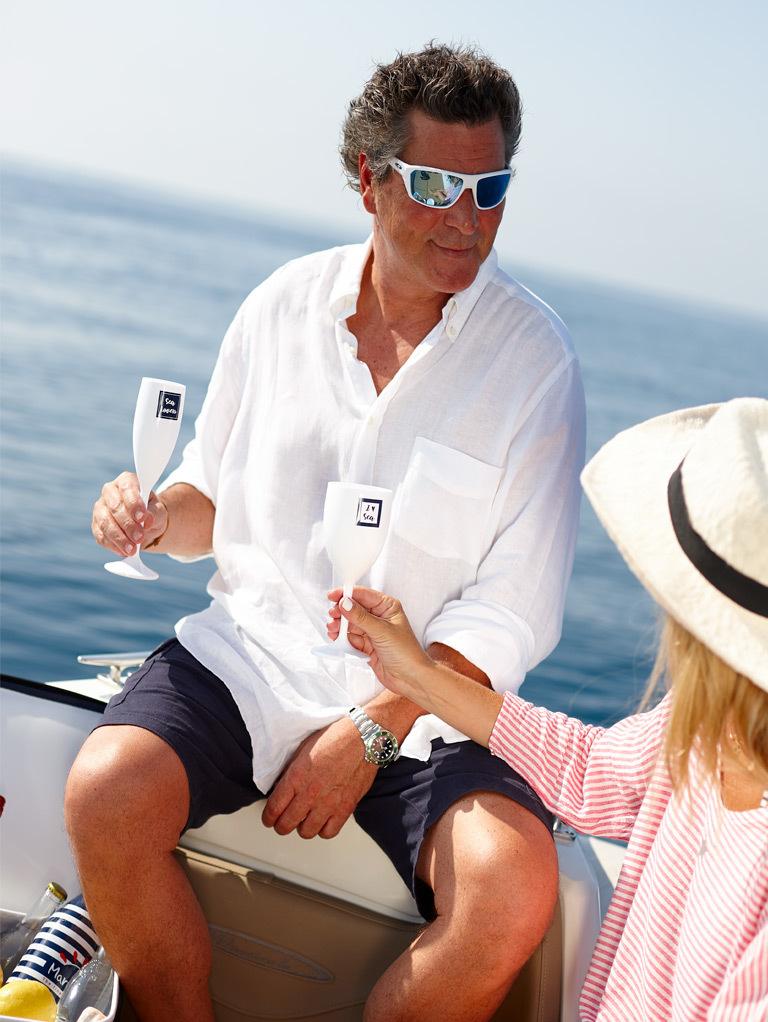 CHAMPAGNE GLASS, SEA LOVERS 6 UN