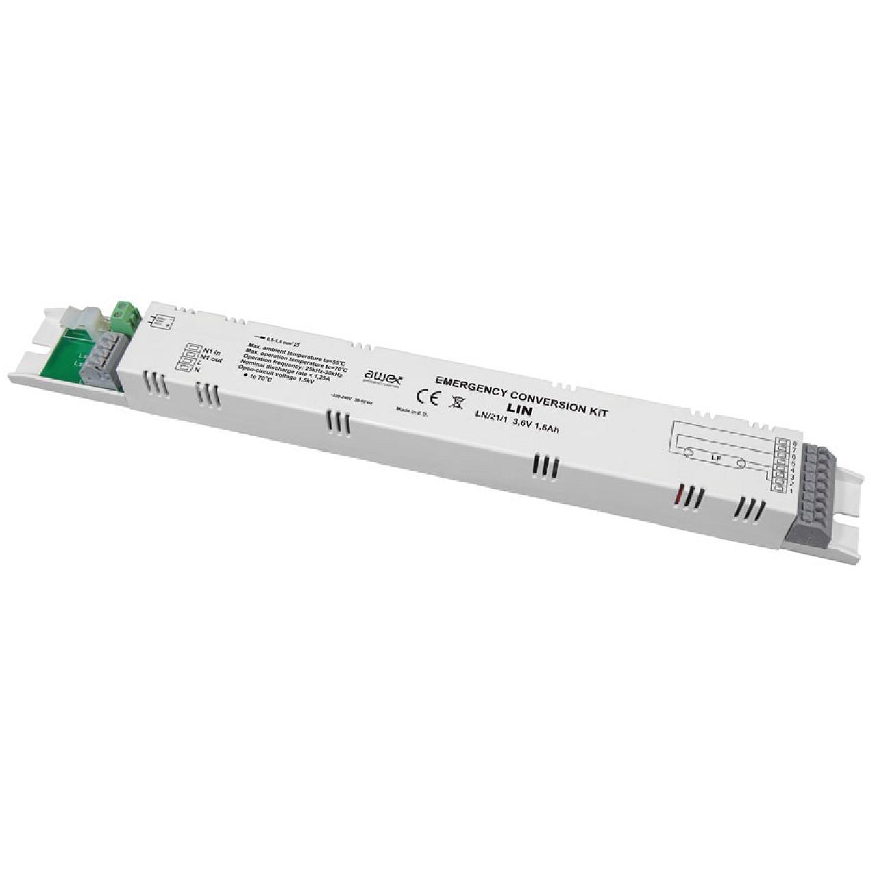Блок аварийного питания для светильников с лампами серии T5 LIN Awex