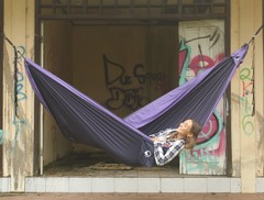 Гамак средний Ticket to the Moon Original Hammock Navy Blue/Purple