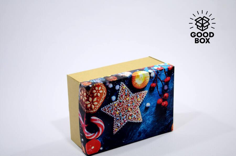Новогодняя подарочная коробка звезда купить в Казахстане