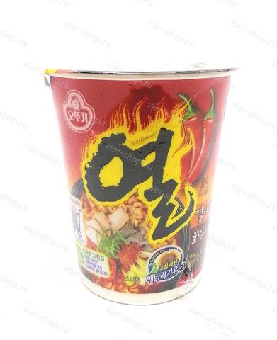 Корейская пшеничная лапша со вкусом свинины, Оттоги (Ottogi), 62 гр.